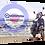 Thumbnail: Scooter beach (1) 40cm x 30cm framed print, canvas print or A4, A3 moun