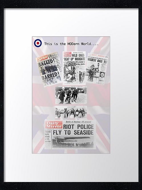 Mods (6) 40cm x 30cm framed print, canvas print or A4, A3 mounted print