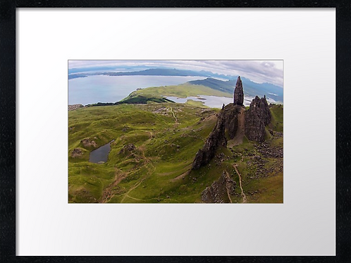 Storr, Isle o (Watercolour) 40cm x 30cm framed print or canvas print