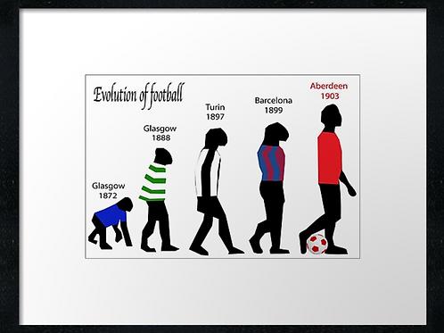 Aberden FC, Evolution 40cm x 30cm framed print or canvas print
