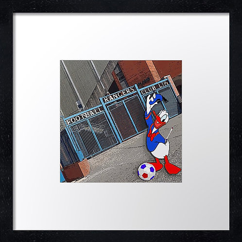 """Rangers (3)  Example shown 10"""" Framed print £21.50)"""