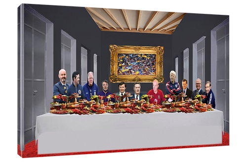 Scotland football managers  (Oilpaint effect) print or canvas print (example sh
