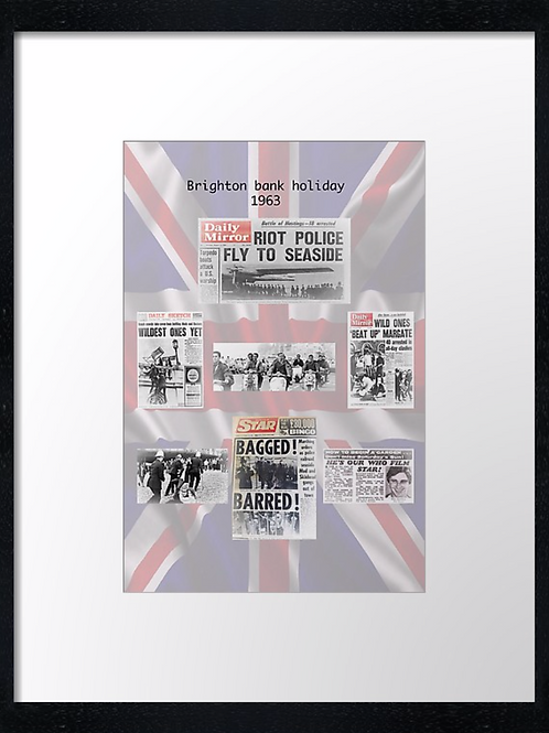 Mods (10) 40cm x 30cm framed print, canvas print or A4, A3 mounted print