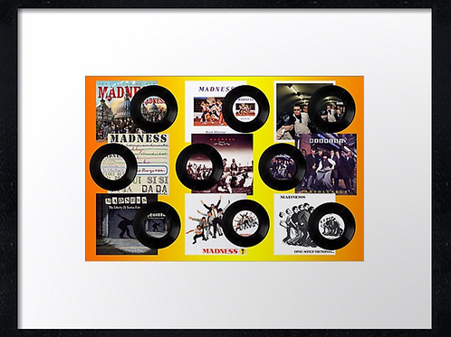 Madness records 40cm x 30cm framed print, canvas print or A4, A3 moun