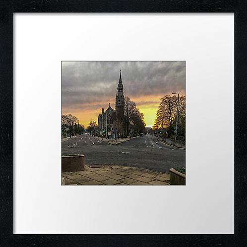 "Queen's Cross, Aberdeen  (Example shown 10"" Framed print £21.50)"