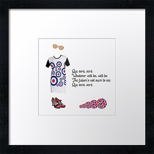 "Que sera sera Print or canvas print Example shown is 10"" Framed print £21.50"