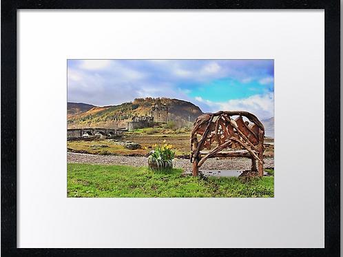 Eilean Donan castle (5) 40cm x 30cm framed print or canvas print