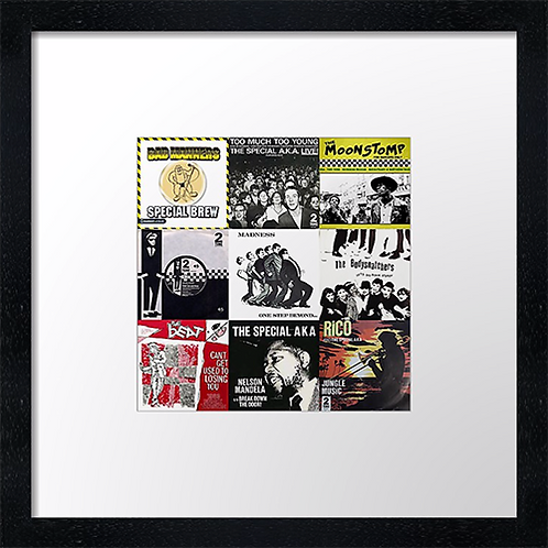 "Ska music Print or canvas print Example shown is 10"" Framed print £21.50"