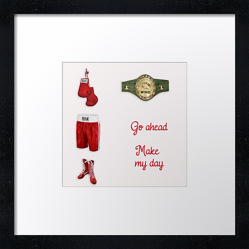 "Boxing (2) Example shown 10"" framed print £21.50"