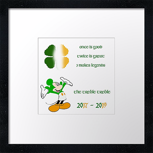 "Treble treble (3) Example shown 10"" framed print £21.50"