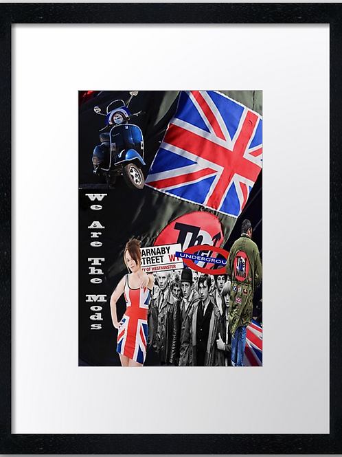 Mods (12) 40cm x 30cm framed print, canvas print or A4, A3 mounted print