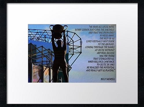 Billy McNeil. Example shown 40cm x 30cm framed print or c