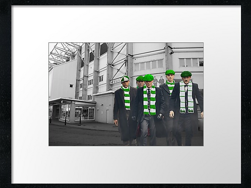 Hibs match day   framed print or canvas print