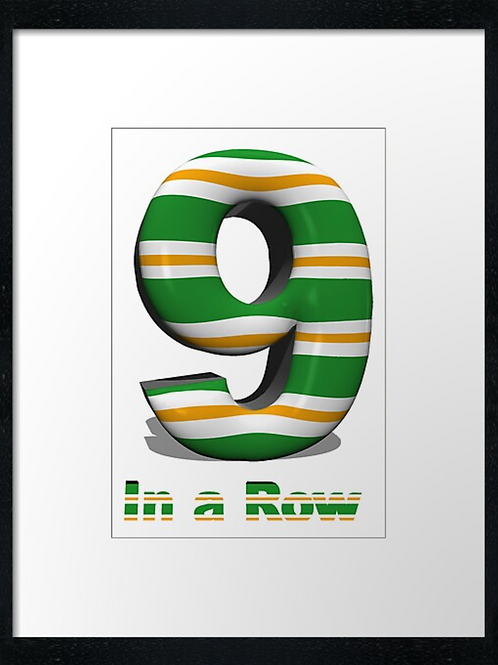 Celtic 9 in a row (1) example 40cm x 30cm framed print, canvas print or