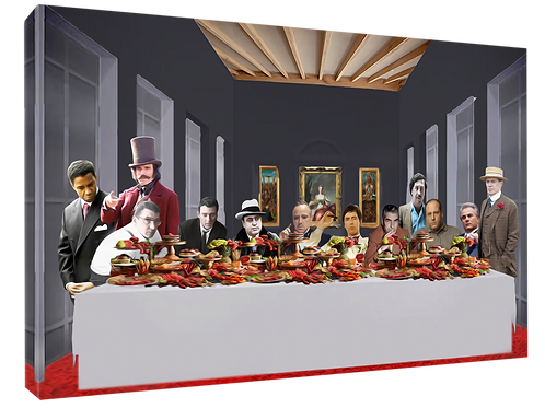 Mafia supper (5) print or canvas print (example shown 40cm x 30cm framed