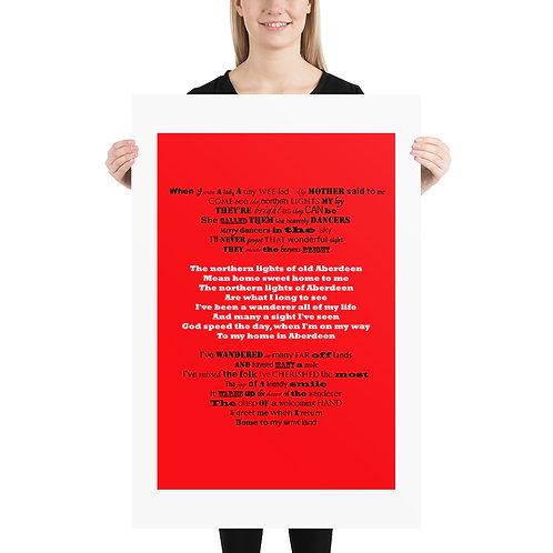 Aberdeen Fc, The Northern Lights Poster