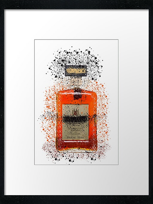 Disaronno Splatter,  example shown 40cm x 30cm framed print