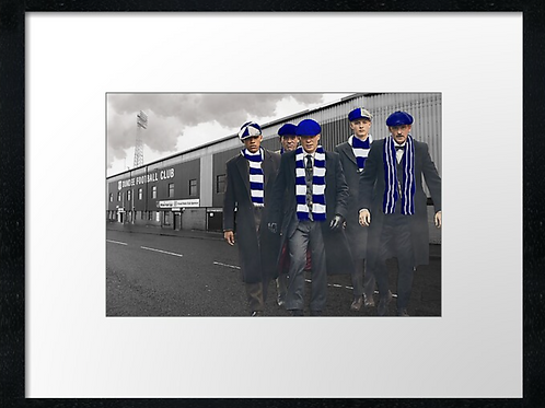 Dundee fc match day   40cm x 30cm framed print or canvas pri