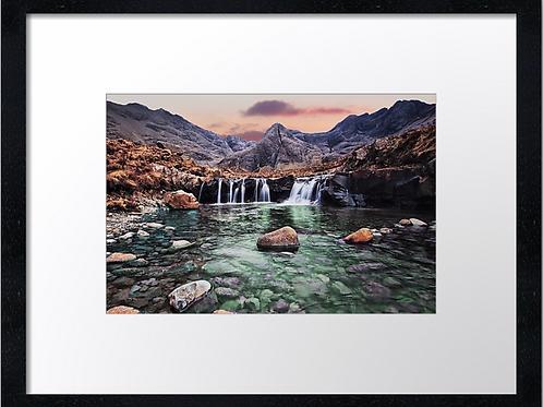 Fairy pools, Skye 40cm x 30cm framed print or canvas pri