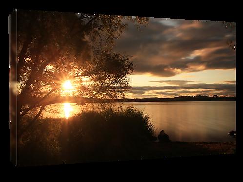 Loch of Skene Sunset  40cm x 30cm framed print or canvas pri