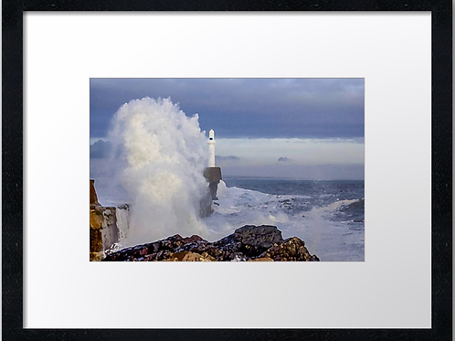 Waves crashing (Water colour) 40cm x 30cm framed print or canvas pri