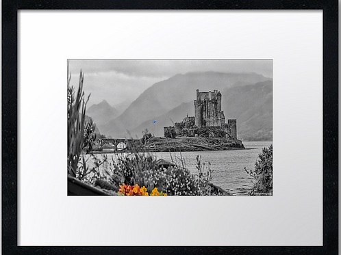Eilean Donan castle (2) 40cm x 30cm framed print or canvas print