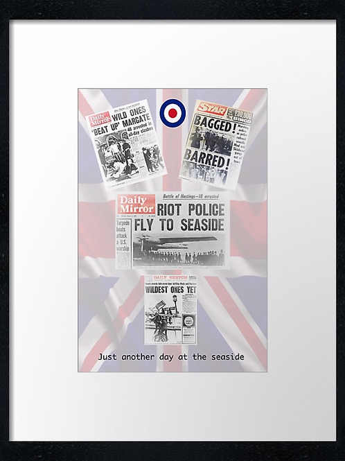 Mods (9) 40cm x 30cm framed print, canvas print or A4, A3 mounted print