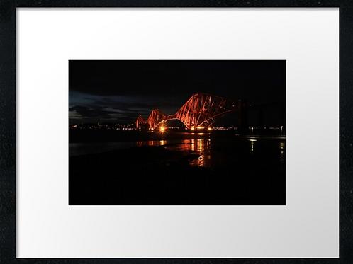 Forth Railway Bridge sunset (4) print or canvas print