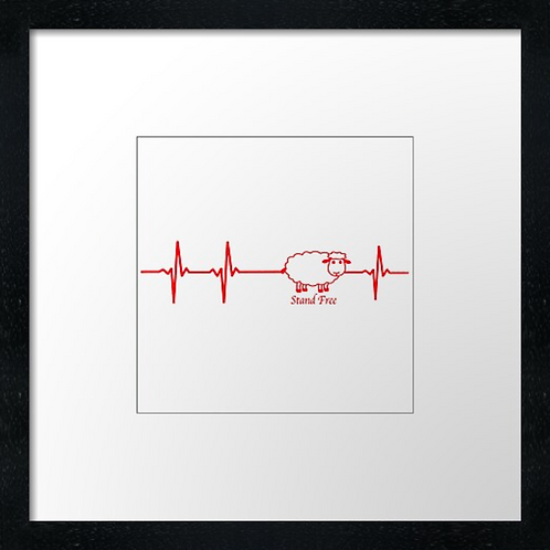 "Aberdeen heart Print or canvas print Example shown is 10"" Framed prin"