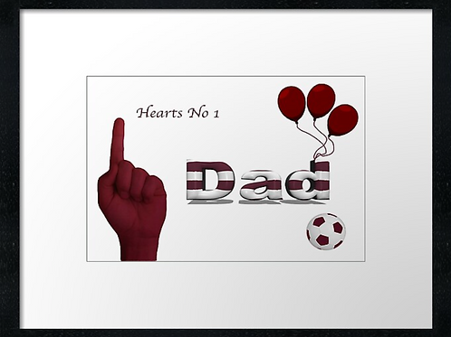 Hearts Dad (1)  Example shown 40cm x 30cm framed print or canvas print