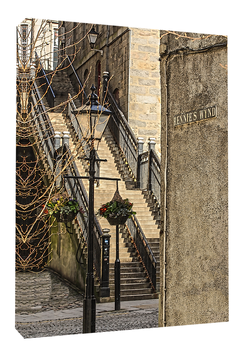 Aberdeen Union St steps, poster,canvas print, poster, print or framed print