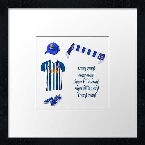 "Kilmarnock fc match ready (Example shown 10"" Framed print £21.50)"