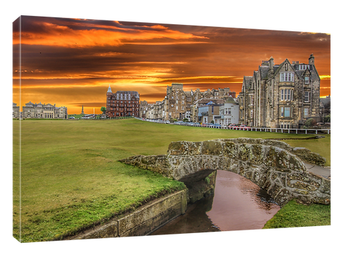 St Andrews Golf (15 Vivid) Print or canvas. Example 40cm x 30cm framed