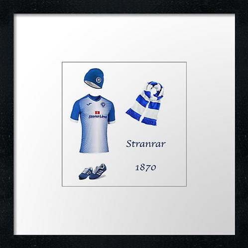 "Stranrar fc match ready (Example shown 10"" Framed print £21.50"
