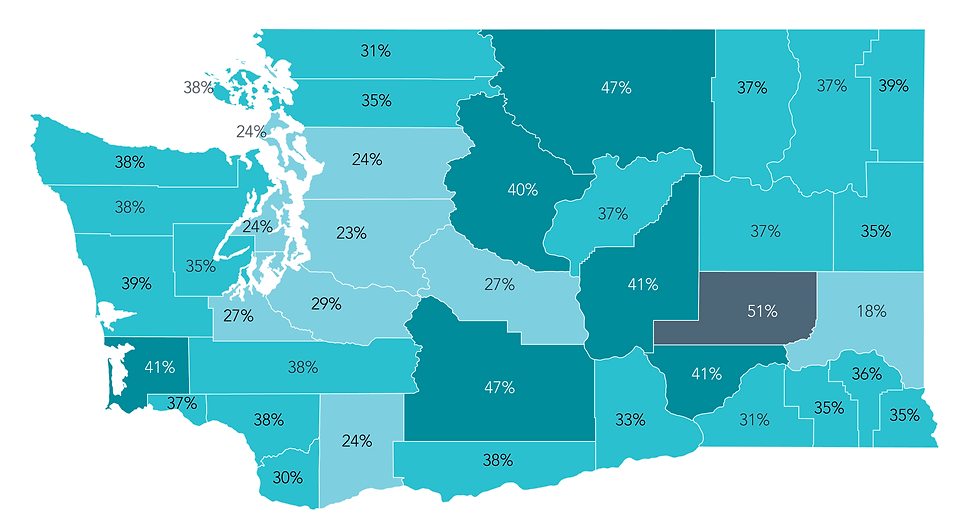 Map of the 1.8 million Washington Residents who are covered