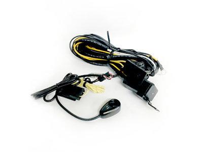 طقم كيبل كهرباء +كتاوت+مفتاح تشغيل للكشاف
