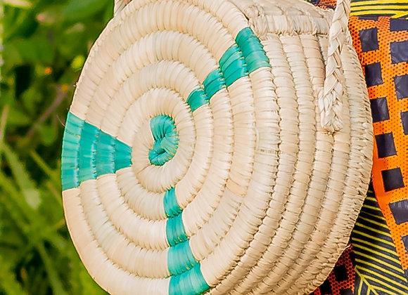 Ruvi natural reed handmade handbag