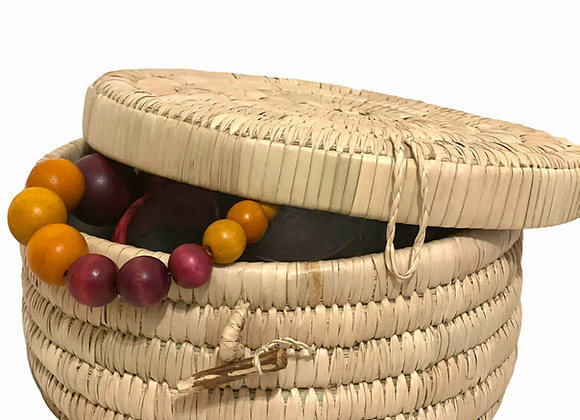 Buhle Natural Reed Handwoven Cosmetic Case