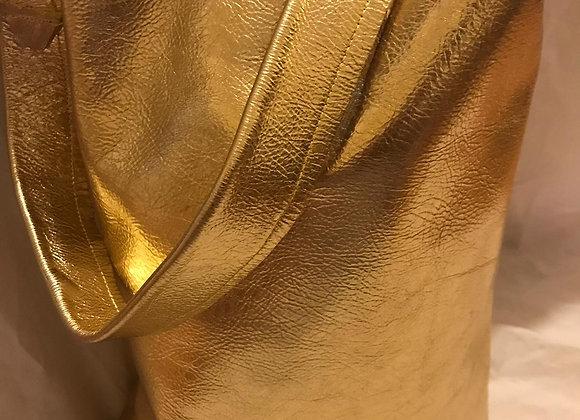 Metalic Gold -Leather Tote Bag