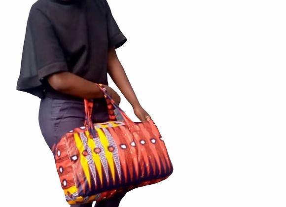 Tutu Large African print Duffle Bag