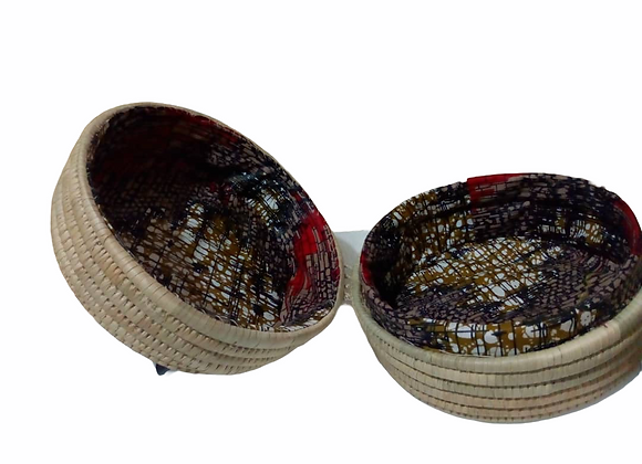 Buhle Fully Lined Natural Reed Handwoven Cosmetic Case