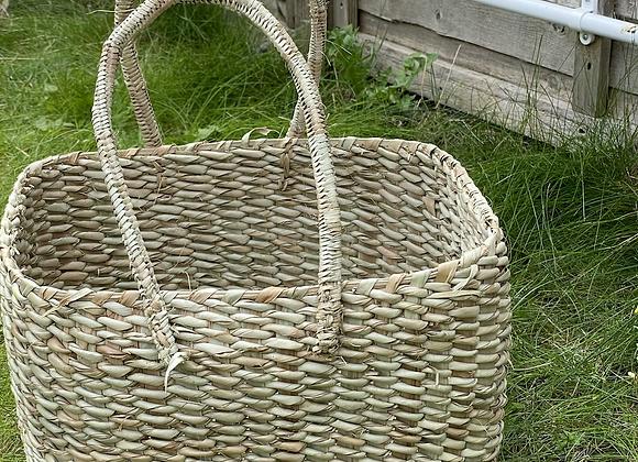 Tora- Natural Reed hand-woven basket