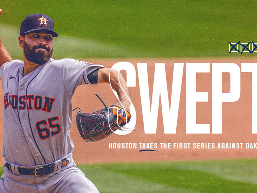 Astros Bats Make A Huge Impact In Four-Game Sweep Over The A's
