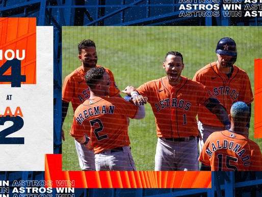 """""""California Dreaming"""" Astros complete West Coast road trip with 5-1 record."""
