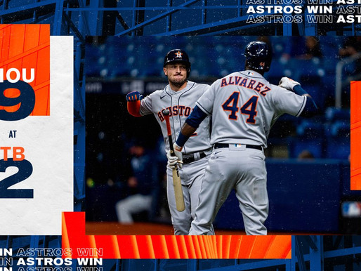 Astros Sends Early Message To American League Champions