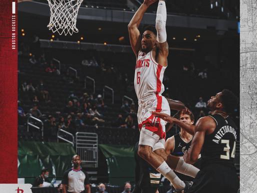 Short-Handed Rockets Fall To Bucks 141-133