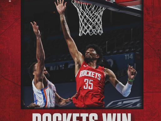 Streaking: Rockets take command early to extend winning streak to six games.