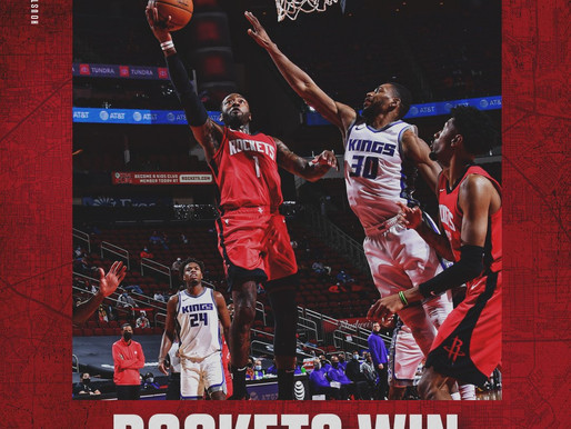 Next Man Up Rockets defeat the Kings after Harden sidelined with injury.