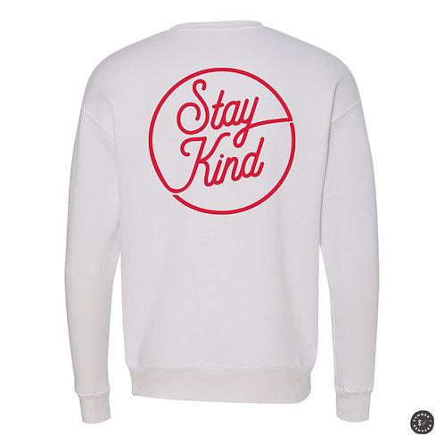 Stay Kind Crew Sweatshirt - White