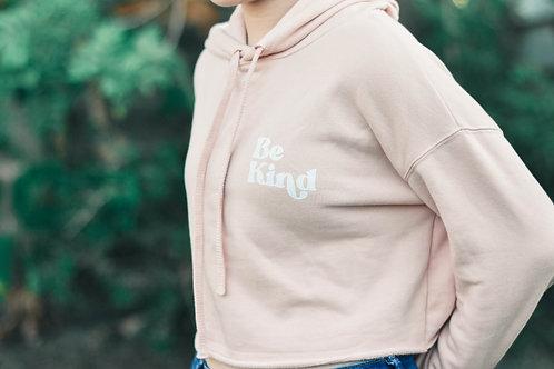 Be Kind Cropped Hoodie - Various Colors